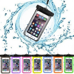 Swimming Phone Case Waterproof Underwater Pouch Bag Pack Dry Case Cover for Cell Phone White for Phone