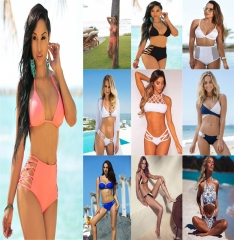 Bikini Set Women Sexy Swimsuit  Summer   Female Sexy Bench Swimsuit Bathing Suit Push Up Biquini 1#-S S-M-L