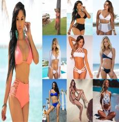 Bikini Set Women Sexy Swimsuit  Summer   Female Sexy Bench Swimsuit Bathing Suit Push Up Biquini 1#-S S-M-L
