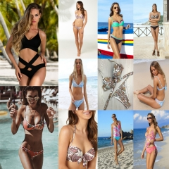 Women Sexy Bikini Set Swimsuit Bandeau Push Up Swimwear Bathing Suit Beachwear 17#-S S-M-L