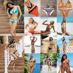Sexy Biquini Beachwear Thong Swim Wear Swimsuit Bathing Suit Swimwear for Women 1#-S S-M-L