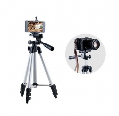 Portable Tripod Professional SLR Digital Camera Projector Camera Tripod Holder Silver