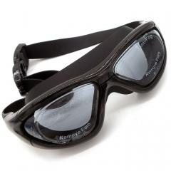 Waterproof Anti-Fog Large Frame Electroplating Flat Swimming Eyewear for Adult Men Or Women Black for Swimming