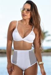 Bikini Set Women Sexy Swimsuit Thong Bikini Halter Summer Swimwear Bathing Suit Padded Swim Suit White-S for Swim
