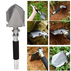 Garden Camping Shovels Multifunctional Military Folding Shovel Outdoor Survival Pocket Tools As picture one size