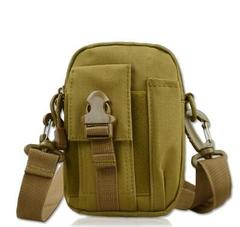 Multi-Purpose Utility Gadget Belt Waist Bag 2-Way for Travelling Sports khaki as picture