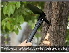 Outdoor Camping Shovel Military Portable Folding shovel black As Picture