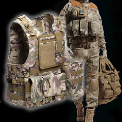 Outdoor Military Tactical Vests Steel Specter Amphibious Vest CS Field Army Fans khaki as picture