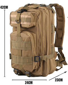 Outdoor Hiking Camping Military Tactical Backpack Army Assualt Pack Tactical Bag khaki as picture