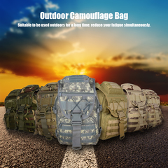 Waterproof Sports Handbag Outdoor Travel Camping Multi-function Bag khaki as picture