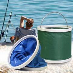 Outdoor Bucket Lightweight Folding Bucket Portable Camping Hiking Fishing Bucket