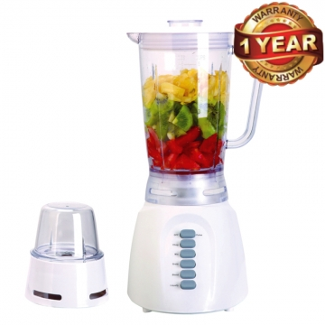 Ramtons (RE/136) Blender with 1.25 Litre Jug & Mill - White