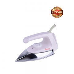 Ramtons (RE/104) Dry Iron Box with White Handle –1000 Watts, White & Silver