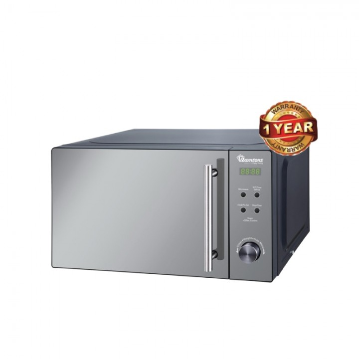 Ramtons Microwave with Digital Control Panel (RM/458) - Silver, 20 Litre Capacity .