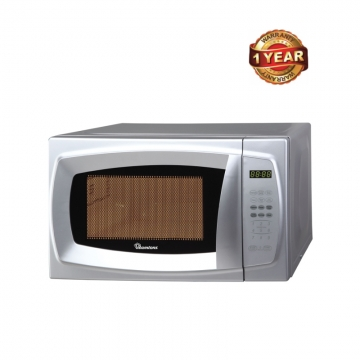 Ramtons Microwave with Grill & Digital Control Panel (RM/320) - Silver, 20 Litre Capacity 700Watt