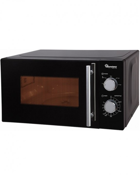 Ramtons Microwave with Control Knob (RM/459) - Black 20 Litre Capacity 700 Watts