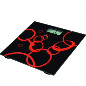 Ramtons Bathroom Scale (RM/285)- Black and Red