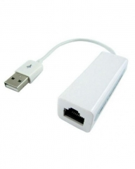 USB 2.0 to Fast Ethernet Network Adapter Cable white .