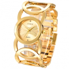 Women Watch Steel Bracelet Clock Lady Hot Luxury Brand Watch gold