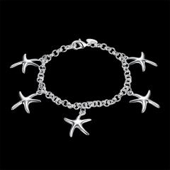 Fashion popular bracelet Silver one size