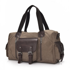 New long-distance travel bag canvas large-capacity men and women portable shoulder Messenger coffee one size