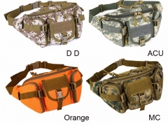 2017 Hot Canvas Waterproof Waist Belt Bag For Men cp camouflage one size