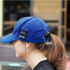 Bluetooth Earphone Baseball Hat Gorro Bluetooth Cap Music Hat Headset Outdoor Sports Headphones black one size