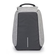 Packback Fashion Men Soft PU Leather Casual Laptop Backpack Europe Anti Theft Waterproof gray one size