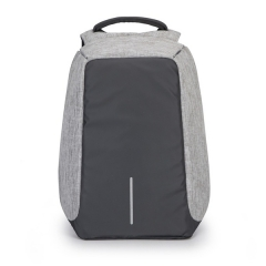 Packback Fashion Men Soft PU Leather Casual Laptop Backpack Europe Anti Theft Waterproo gray one size