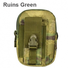 Pouch Belt Waist Pack Bag Pocket Military Waist Pack Phone cases Pocket  hiking bag ruins green one size