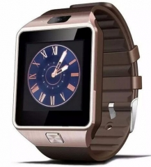 Smart Watch with Camera Bluetooth 3.0 Support SIM Card TF Card WristWatch gold one size