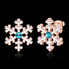 Christmas snowflakes have three colors rose gold one size