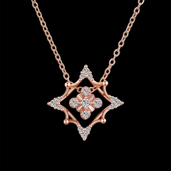 Christmas collection of fashion zircon necklace gold one size
