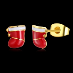 Oil Christmas stocking studs gold one size