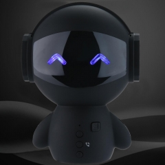 Intelligent Bluetooth Wireless Robot Speaker Mini Bass Stereo Music Box black same same