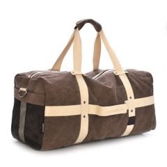 large capacity men and women canvas travel bag Contracted joker men's big handbag khaki one size