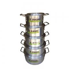 10 pcs Aluminium cooking pot Aluminium/ Silver 21cm-30cm