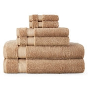 Six Piece Cotton Towel Set Champagne 45X27,31X18.5,12X12