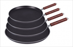Fine Pizza pan/ Hot Plate non stick black 29cm dia-2.5cm depth