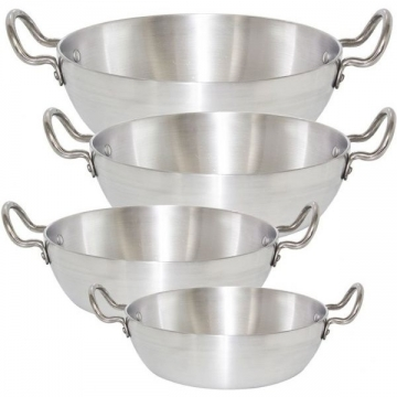 Fine Wok/Karhai (Aluminum) aluminium/ silver 11 inch (28 cm)