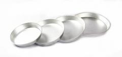 Fine Alluminum Deep Tray Silver 11 inch (28 cm)