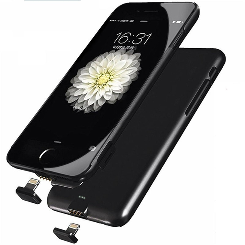 new arrival 6b6d3 50891 Ultra Thin Charger Battery Case For iPhone 7 7 Plus Battery Power Case  Charge Phone Protective black iphone 7 plus
