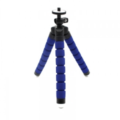 Phone Holder Flexible Tripod Bracket Selfie Expanding Stand Mount Monopod Styling  For Phone Camera blue normal