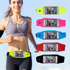 Universal Waterproof Sport GYM Running Waist Belt Pack Phone Case Bag Armband for mobile Phone blue phone 4.2-4.7inch