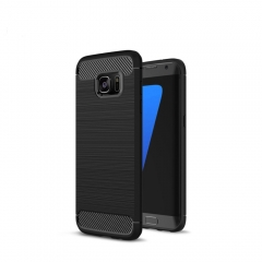 Carbon Fiber Phone Cases For Samsung S8 S8 Plus  Note 8 Case S7 S7 Edge Soft TPU Cover for Samsung black samsung S8