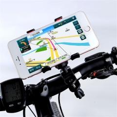 Universal 360 Rotating Bicycle Bike Phone Holder Handlebar Clip Stand Mount Bracket For Smart Mobile black normal