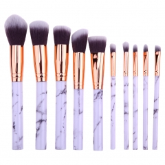 10pcs Marble Patten Makeup Brush for Cosmetic Powder Foundation Eyeshadow Lip Make up Brushes Set marble
