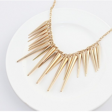 Pendant Necklace Gold Color Chain Spike Maxi Statement Necklaces & Pendants For Women Jewellery gold 45cm