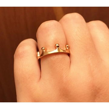 New Crown Rings Fashion Jewelry For Women Gold Silver Plated anillos For Wedding Engagement HOT Sale gold one size