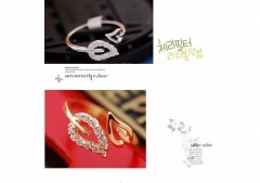 IFeel new two anti-drilling leaves retro Korean female couple rings jewelry influx of people silver one size